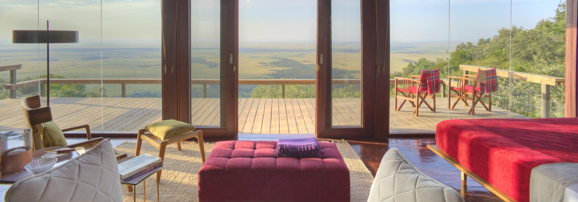 A Luxury Tented room at Angama Mara