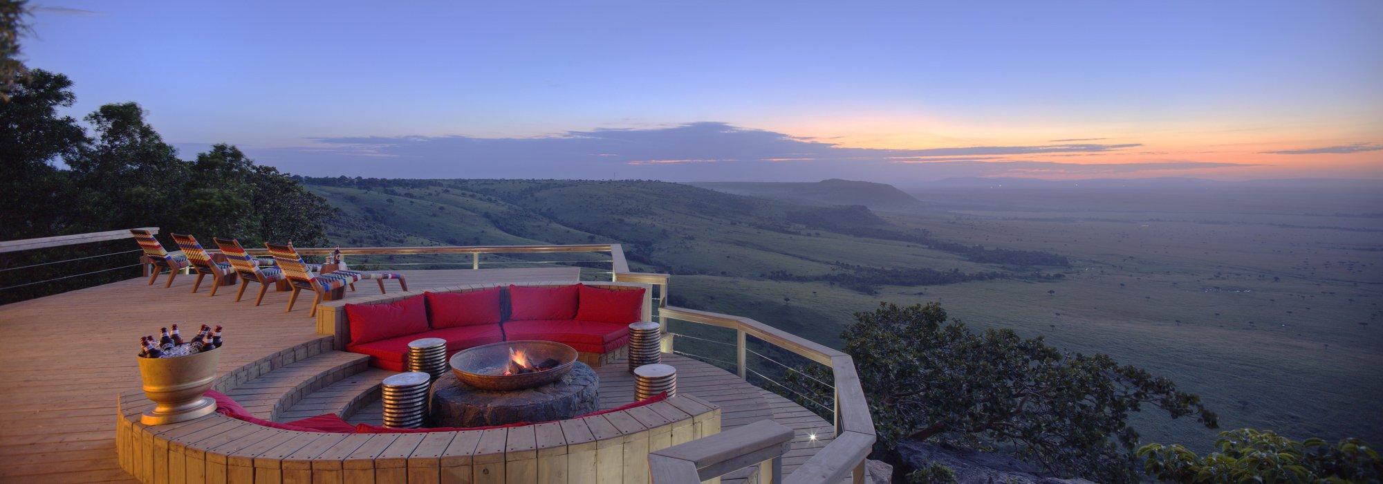 A sunset over the Maasai Mara in Kenya