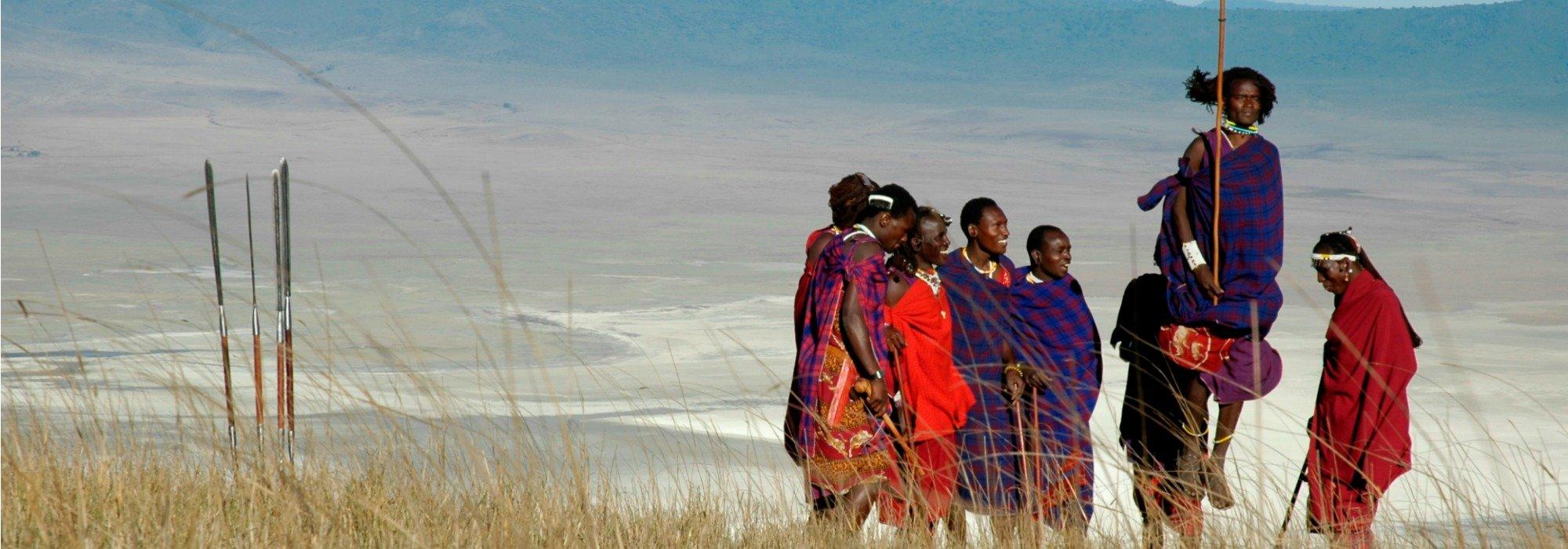 Maasai at the Ngorongoro Crater