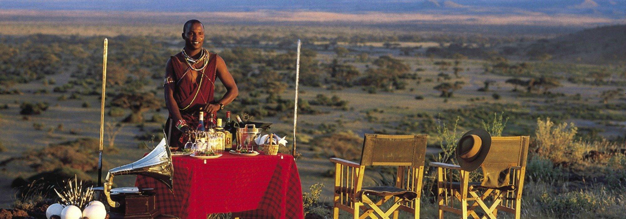 Sundowners at Tortilis Camp Amboseli