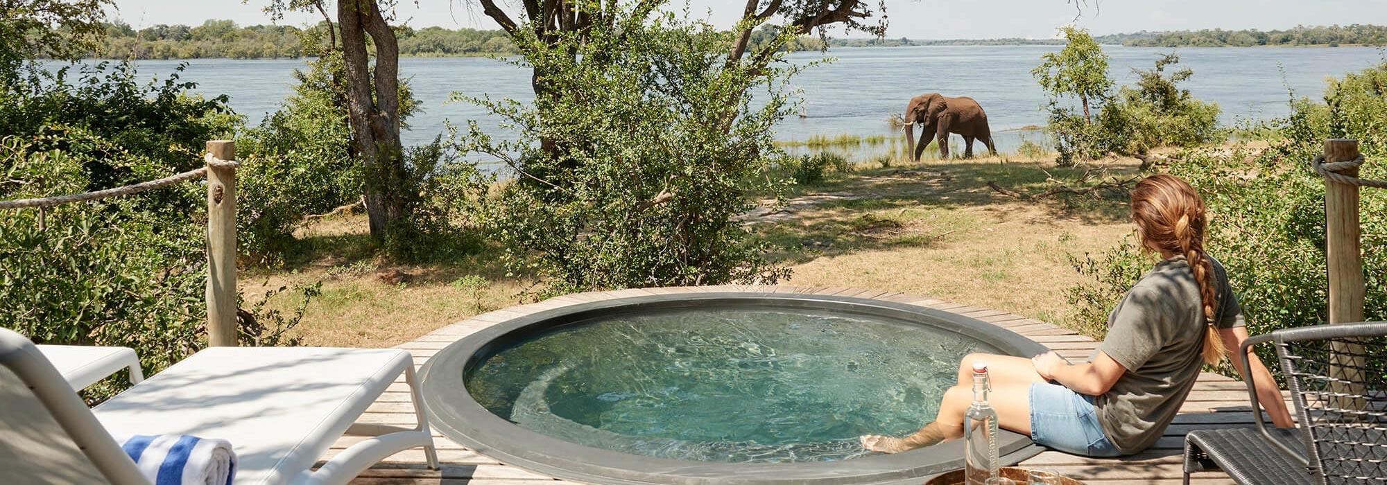 Victoria Falls River Lodge Plunge Pool